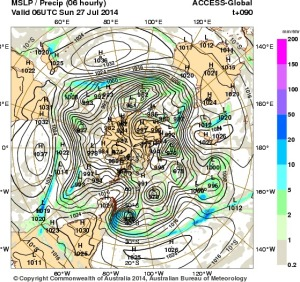 24 July 2014.IDY20001.mslp-precip.090
