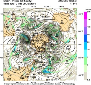 24 July 2014.IDY20001.mslp-precip.144