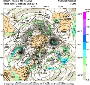 19 September 2014.IDY20001.mslp-precip.090