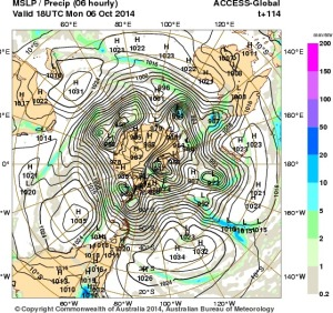 2 October 2014.IDY20001.mslp-precip.114