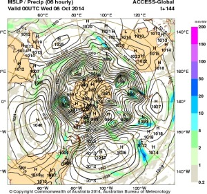 2 October 2014.IDY20001.mslp-precip.144