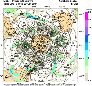 26 October 2014.IDY20001.mslp-precip.072
